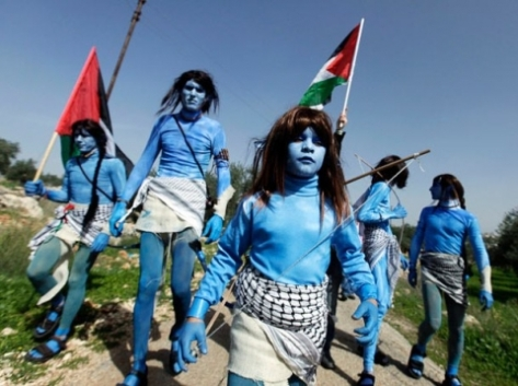 """Avatar"" characters in Bil'in demonstration."