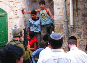 Children under attack - violent Jew settlers and soldiers