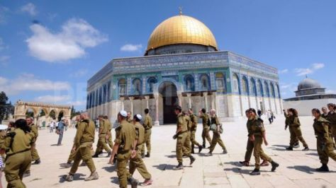 Jewish soldiers at al-Aqsa