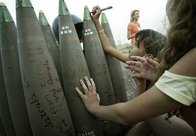 jew girls sign bombs