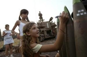 jewish girls sign bombs