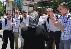 jews harass a lady