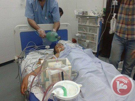 Palestinian in hospital