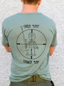 IDF shirt - celebrating killing children