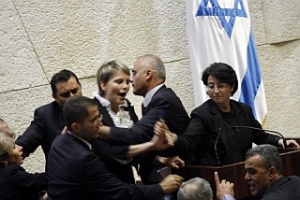 MK Zoabi attacked in the Knesset by violent Jews