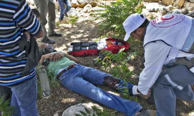 18 July - Palestinian shot with live ammunition outside Nil'in by Jewish soldiers. ISM