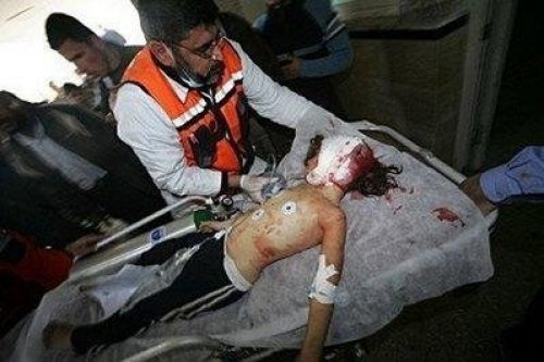 8 year old shot in the head by a Jewish soldier