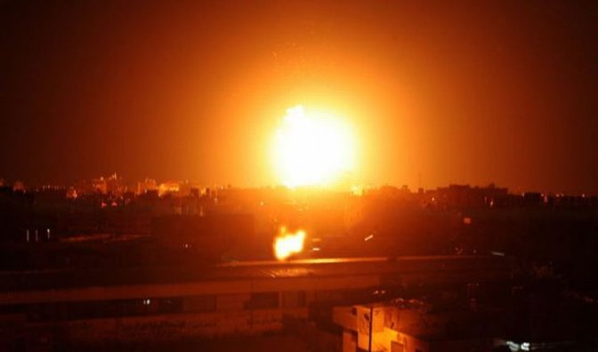 Gaza: airstrike by Jewish military at night