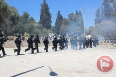 al-Aqsa - occupation forces storming compound. Ma'an