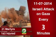 al-Qassam graphic: 11-7 21 martyrs in one day