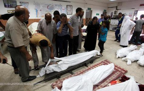 al-Shujaiya market massacre - at least 15 dead. Safa