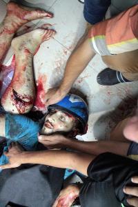 al-Shujaiya market massacre - journalist Rami Rayan