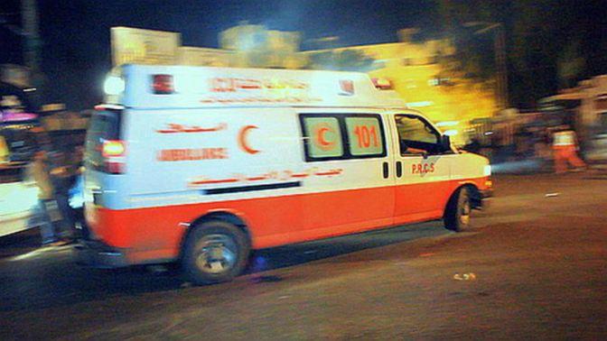 Ambulance in Gaza zoom