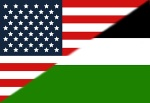 american palestinian flags
