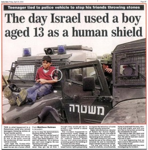 Dail Mail - IDF used boy as a human shield