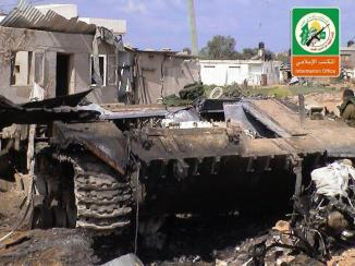 Damaged Israeli vehicle