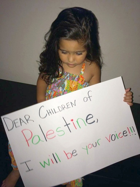 Dear children of Palestine, I will be your voice!