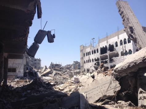 Devastation in al- Shujaiya