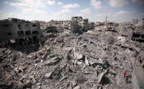 Extent of massive destruction - entire block gone