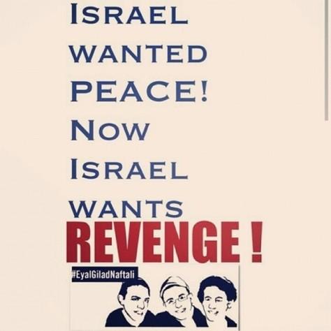 Forget peace - Israeli Jews want revenge