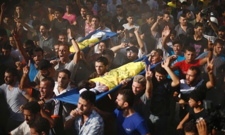 Gaza - 16 July death on the beach - funeral procession
