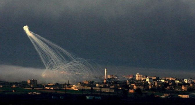 Gaza - 18 July poison gas bombs from sea