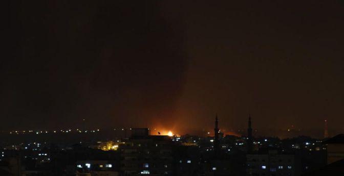 Gaza - 19 July night sky - many houses burning now