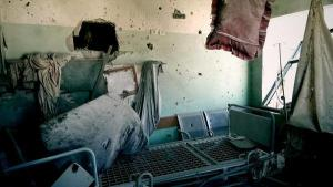 Gaza - 21 July al-Aqsa Martyrs Hospital interior damage