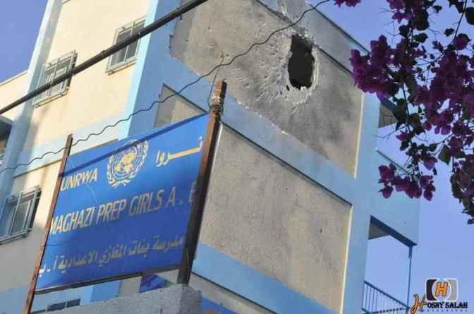 Gaza - 23 July Maghazi Prepatory Girls school attacked 3 shells