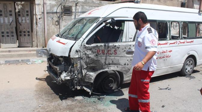 IOF soldiers violate ceasefire, fire at ambulance cars