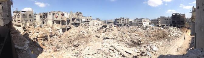 Gaza - 26 July scene of massive destruction of homes