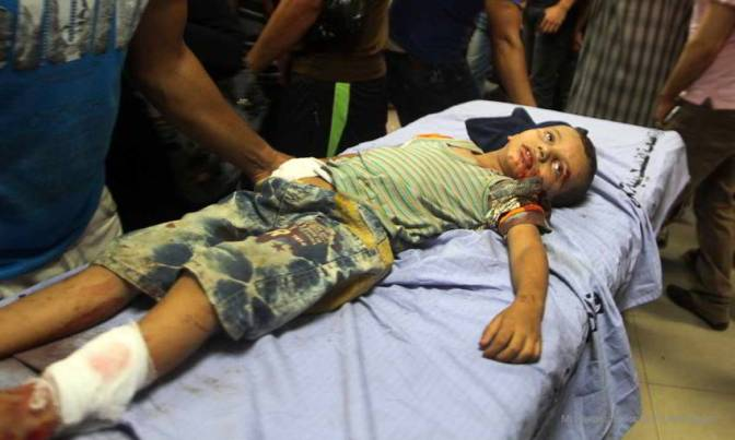Gaza boy victim of Jewish military 2014. MEMO