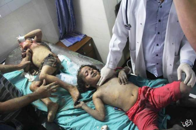 Gaza - boys one injured, one killed by Jewish military strikes