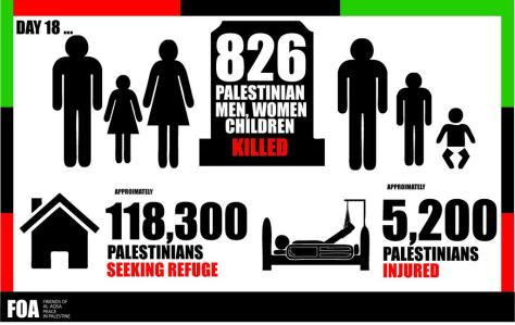 Gaza - Day 18 FOA infographic