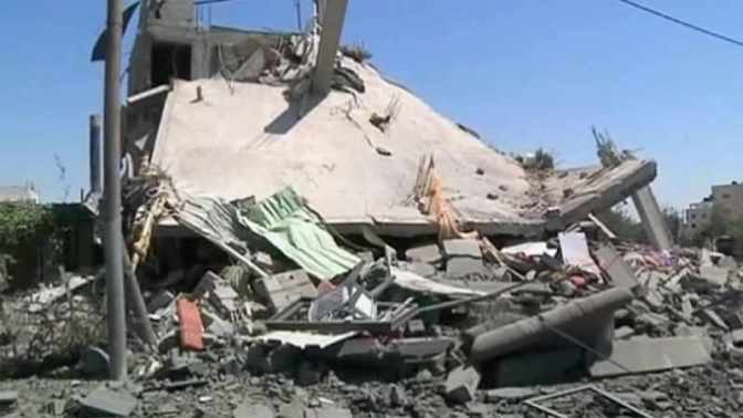 Gaza - home destroyed by Jewish military 2014