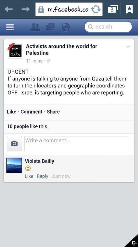 Gaza - Jewish military targeting anyone in Gaza who is reporting