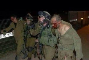 Gaza - Jewish soldiers battered by al-Qassam