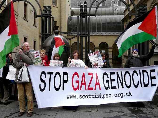 Gaza rally Scotland Stop Gaza Genocide