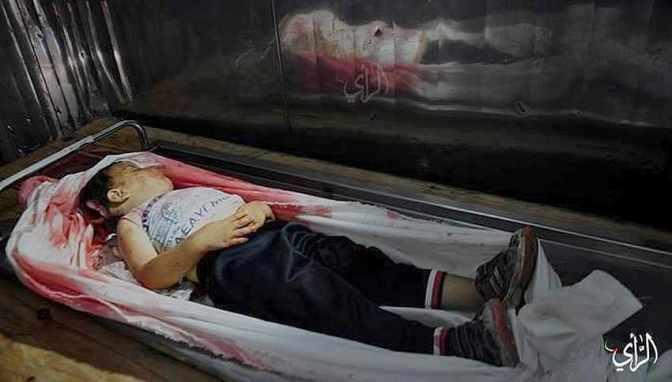 Gaza - toddler in morgue: Day-6