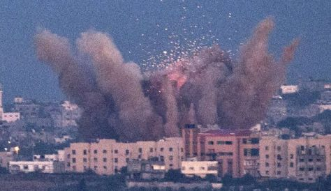 Israel bombs apartments in Gaza
