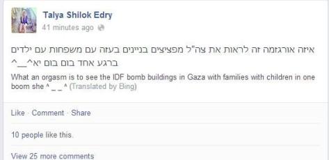 Israeli Jew has orgasm over genocide of Palestinians in Gaza