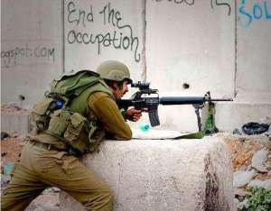 Israeli Jewish soldier. End the occupation!