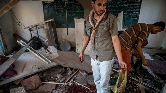 Video: Israel bombs 6th UN school in Gaza