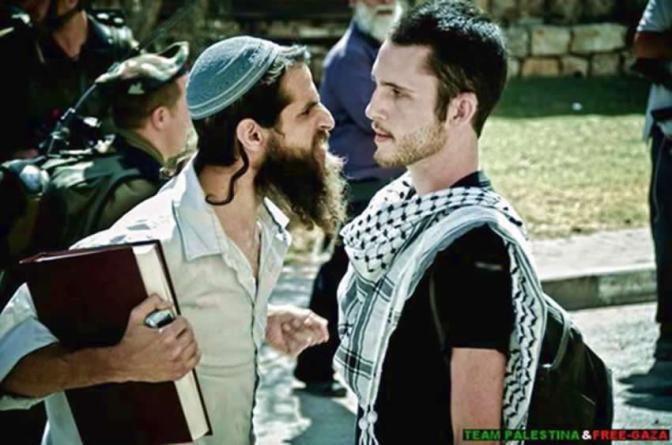 Jew sneering at Palestinian