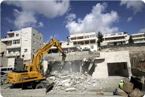 Jewish soldiers demolishing Paletinian's home
