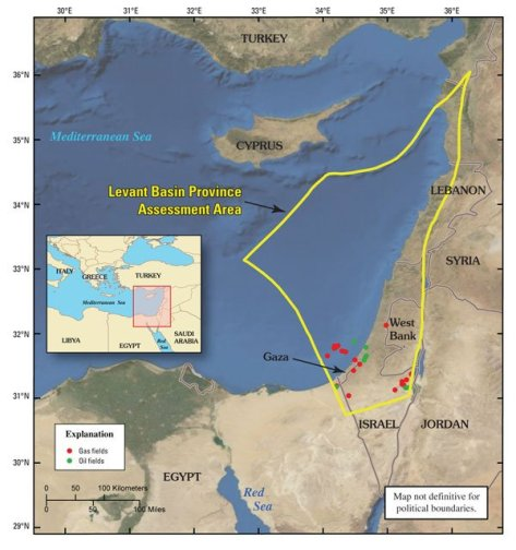 Levant gas: map 1