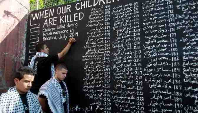 List of children who have been murdered by Jewish military