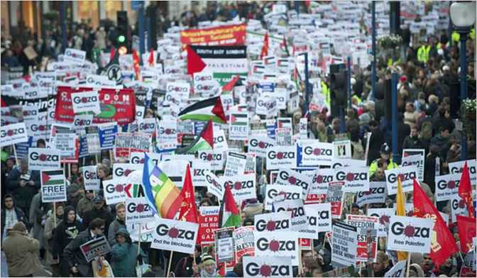 London rally for Gaza