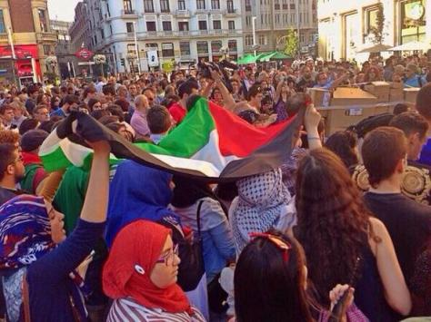 Madrid Spain rally for Gaza