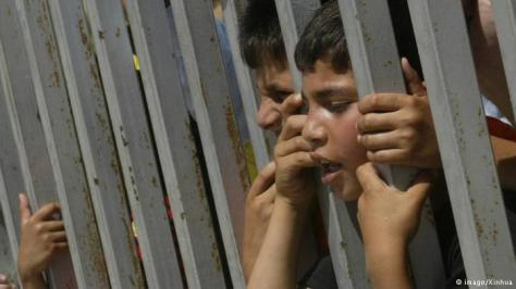 Little Palestinian boys in prison